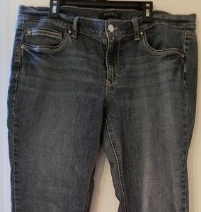 White House Black Market noir 12 Jeans